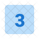 3 Number Icon