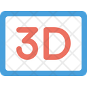 3 D Movie Film Icon