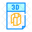 3 D File Printing Icon