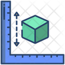 3 D Cube Measure Icon
