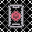 Mobile Cube Box Icon