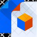 3 D Design File Graphics Document Graphics File Icon