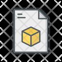 3 D Design File Icon