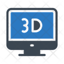 D Display Monitor Icon