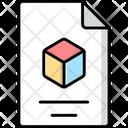 3 D File Icon