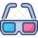 D Glasses Blinkers Frames Icon
