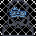 3 D Glasses Virtual Glasses Virtual Goggles Icon