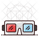 D Glasses Virtual Goggles 3 D Glasses Icon