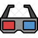 2 D Glasses Eyeglass Glasses Icon