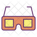 D Glasses D Goggles Cinema Goggles Icon