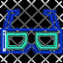 3 D Goggles 3 D Glasses Cinema Icon