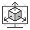 3 D Modeling Icon