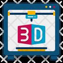 D Printer D Printer Printer Icon
