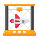 3 D Rocket Engine Icon