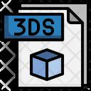 3 Ds File File Folder Icon