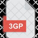 3 Gp Format Third Generation Partnership Project Icon
