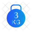 3 Kg Kettlebell Icon