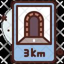 3 Km Tunnel Icon