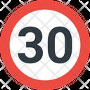 30 Speed Limit Speed Limit Road Icon