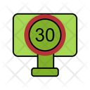 30 Speed Limit Icon