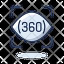 360 Degree 360 Degree Icon