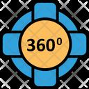 360 Degree Camera Virtual Reality Vr Camera Icon