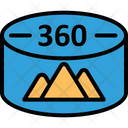 360 Degree Image 360 Degree Vision Aerial Panoramas Icon