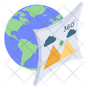 360 Degree Photo Immersive Photo Spherical Photo Icon