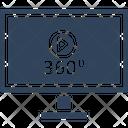 360 Degree 360 Degree Video 360 View Icon
