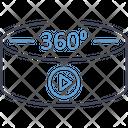 360 Degree 360 Degree App 360 Degree Vision Icon
