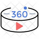 360 Degree video Icon