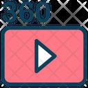 360 Video Film Icon