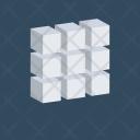 3 D Cubes Cube Icon