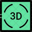 3 D Cinema Film Icon