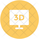 3 D Screen Lcd Icon