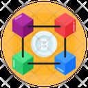 3 D Connected Blockchain Blockchain Bitcoin Connection Icon