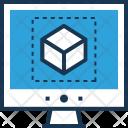 3 D Design Logo Icon
