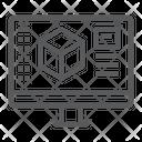D Design Monitor Icon