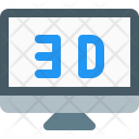 3 D Monitor Display Icon