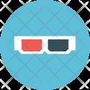 3d eyeglasses Icon