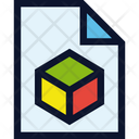 File Document 3 D Icon
