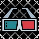 3 D 3 Dglasses Glasses Icon