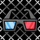 Virtual Glasses Vr Goggles 3 D Glasses Icon