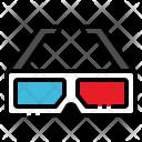 3 D Glasses Cinema Icon