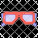 3 D Glasses Eyewear Goggles Icon