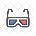 3 D Glasses Game Glasses Virtual Glasses Icon