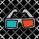Glasses 3 D Icon