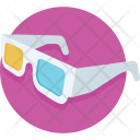 Glasses 3 D Stereo Icon