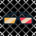 3 D Glasses Specs Icon