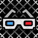 3 D Glasses Film Icon
